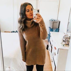 Long sleeve turtleneck sweater dress